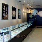 Modern jewelry showcases