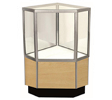Half Glass Display Cabinet