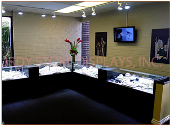 Jewelry Glass Display Showcases Sturdy Store Displays