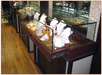 Glass to glass display box sturdy store displays for Big box jewelry stores